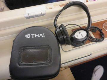 thai airways first class a380 kopfhoerer
