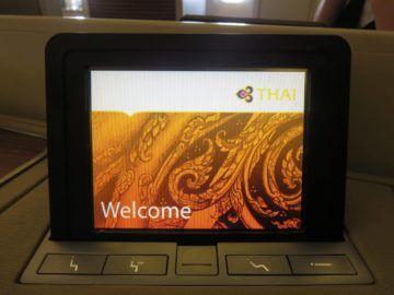 thai airways first class boeing 747 bedienelement