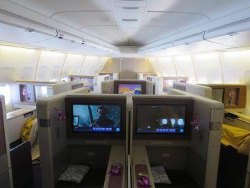 thai airways first class boeing 747 kabine 3