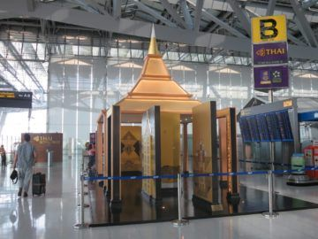 thai airways first class lounge bangkok checkin 1