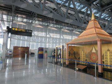 thai airways first class lounge bangkok checkin 2