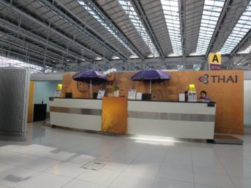 thai airways first class lounge bangkok checkin 3