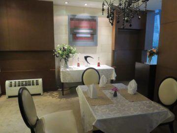 thai airways first class lounge bangkok diningroom 2
