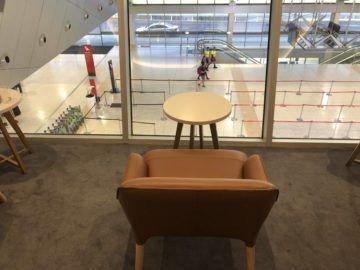 the qantas club melbourne blick auf eingangshalle