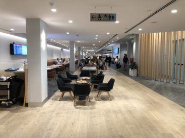 the qantas club melbourne blick in die lounge