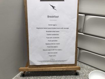 the qantas club melbourne menue fruehstueck