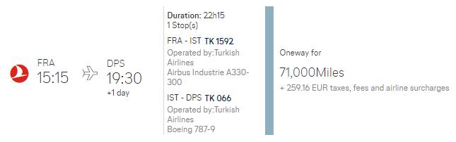 Am 14. August von Frankfurt über Istanbul nach Bali für 2 Personen