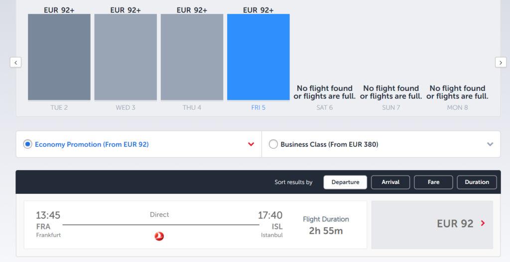 Turkish Airlines Flüge von Frankfurt an den neuen Flughafen von Istanbul