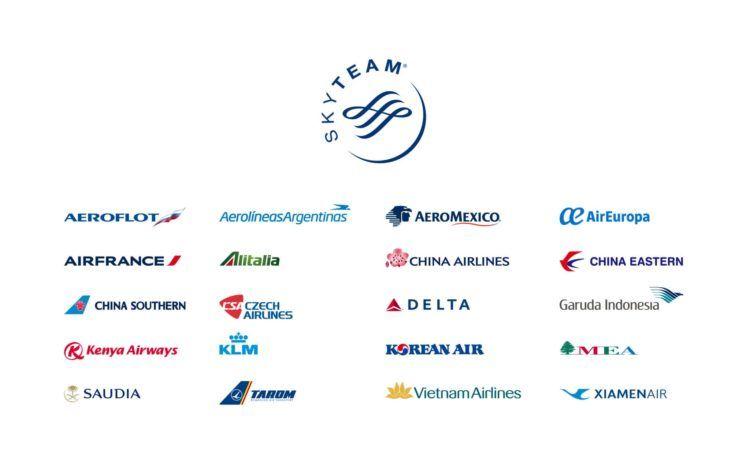 uebersicht aller skyteam airlines