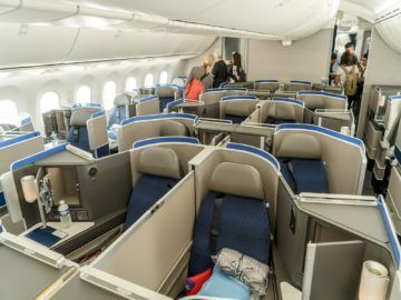 united airlines business class boeing 787 10 kabine innen 1