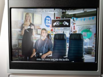 united airlines business class boeing 787 10 safety video 1