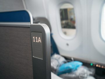 united airlines business class boeing 787 10 sitz 11a 1