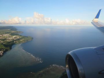 united island hopper landeanflug guam 2