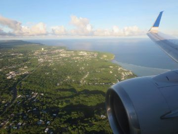 united island hopper landeanflug guam 3
