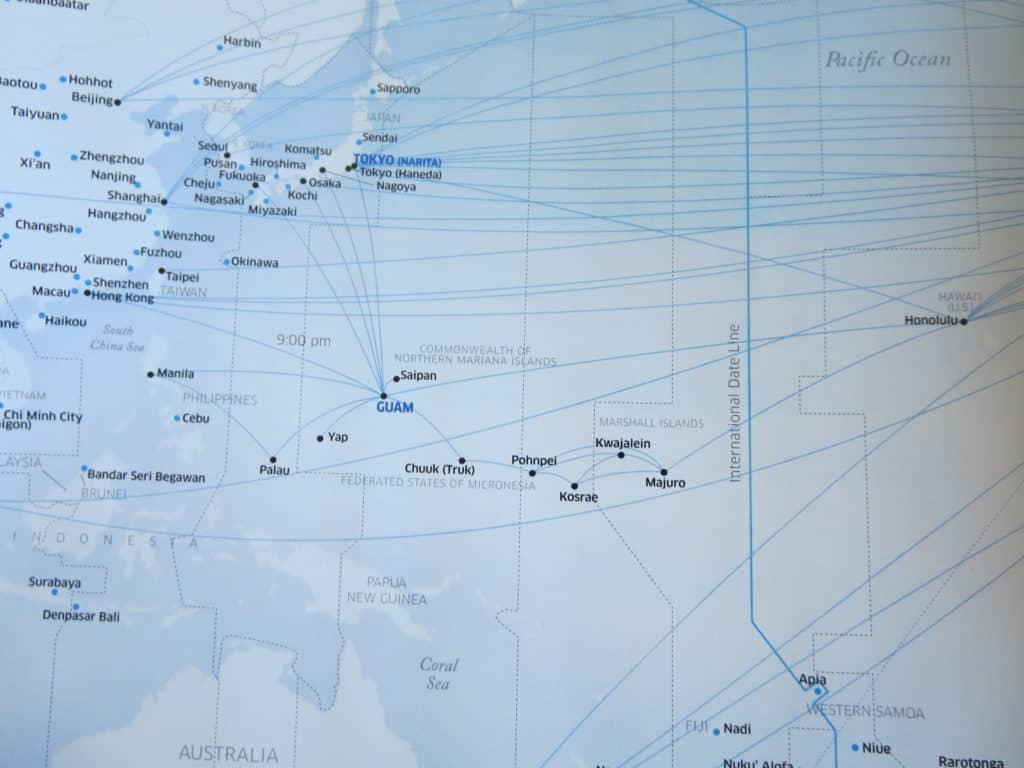 Der United Island Hopper fliegt von Honolulu mit 5 Zwischenstopps nach Guam