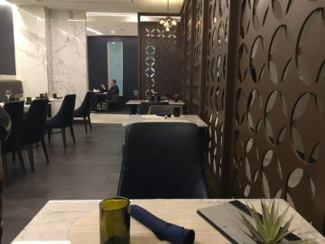 united polaris lounge los angeles dining room 2