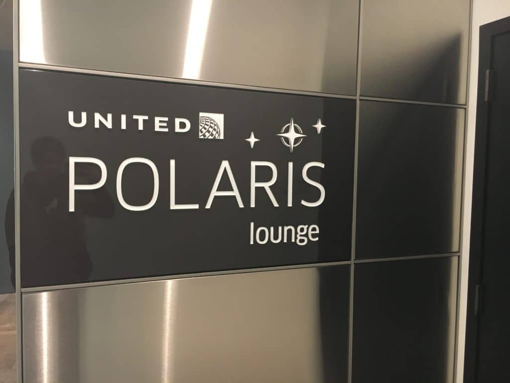 United Polaris Lounge LAX - Empfang