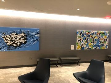 united polaris lounge newark nyc art deco