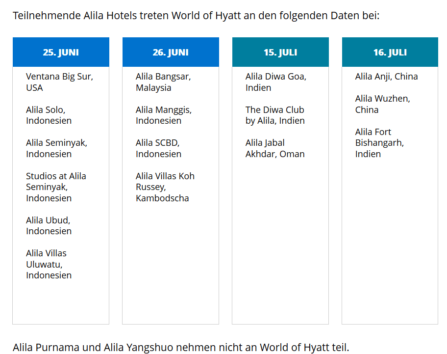 Integration der Alila Hotels bei Hyatt